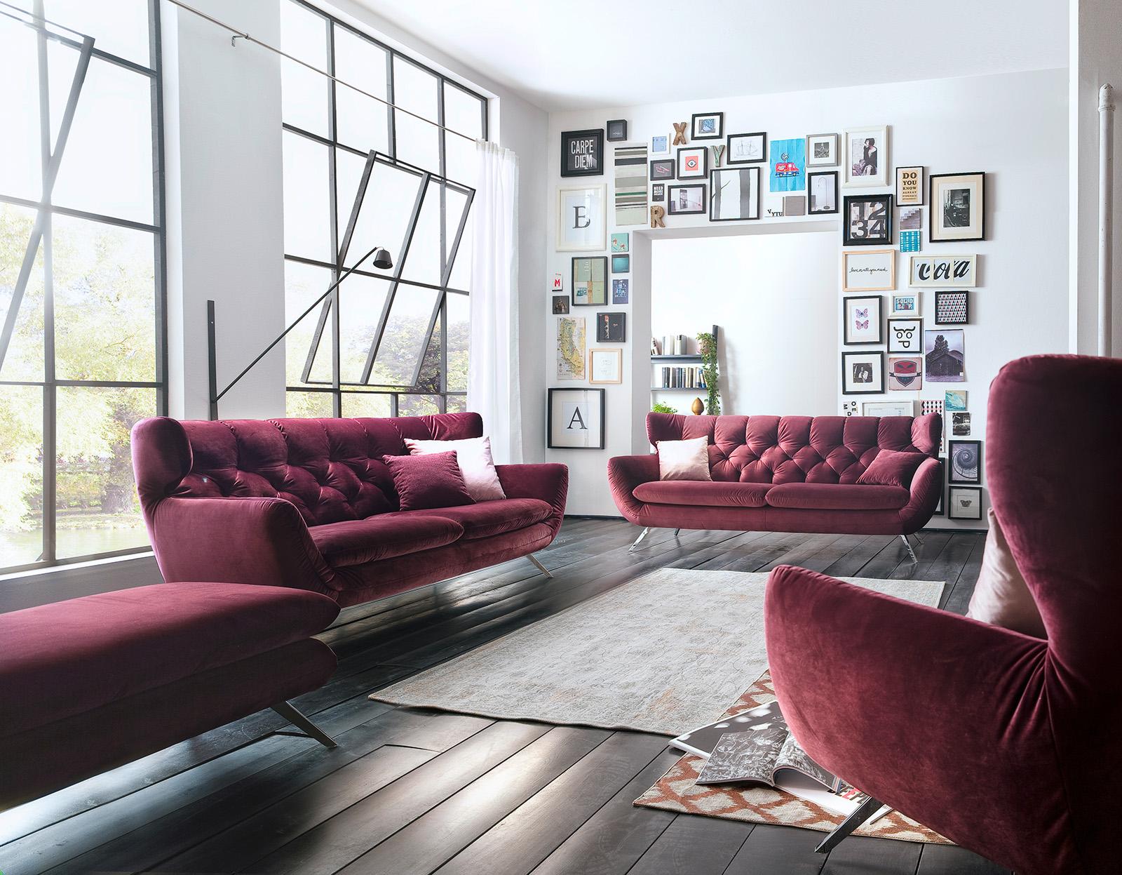 Polster Garnituren : Garnitur Sixty /Sofa im Chesterfield Look